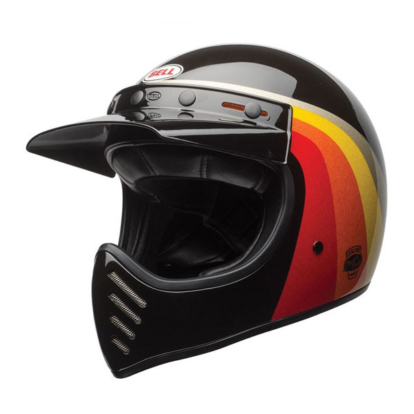 Casco integrale BELL MOTO 3 CHEMICAL CANDY in fibra nero oro