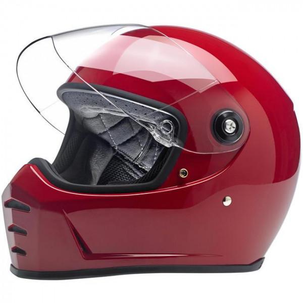 Casco integrale Biltwell Lane Splitter rosso lucido