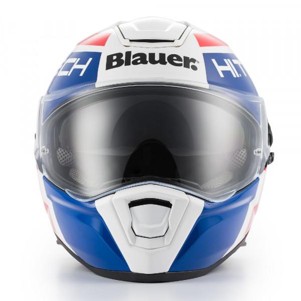 Casco integrale Blauer Force One 800 in fibra bianco blu rosso