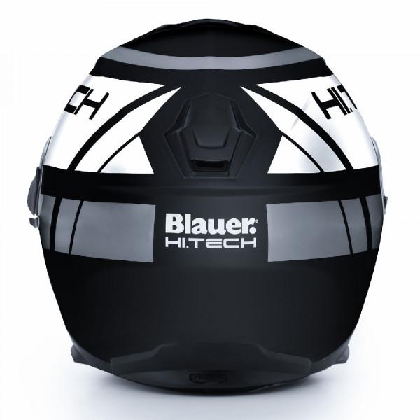 Casco integrale Blauer Force One 800 in fibra nero opaco bianco antracite