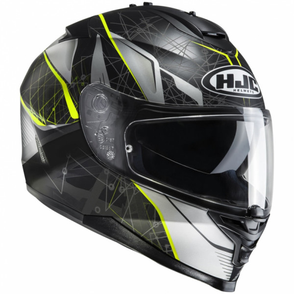 Casco integrale HJC IS-17 DAUGAVA MC4HSF Nero Giallo fluo