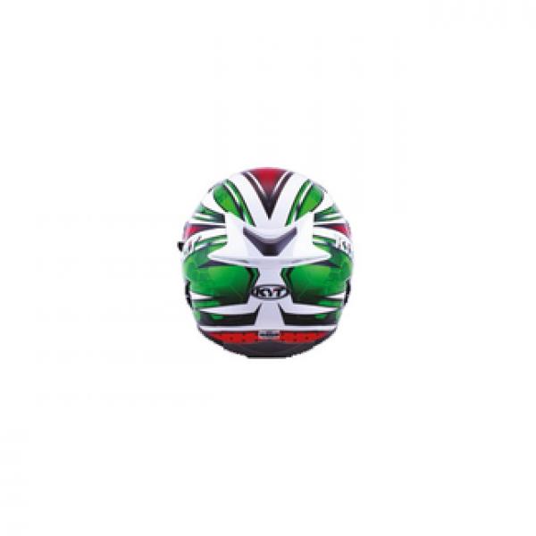 Casco integrale KYT Falcon All Stars rosso verde