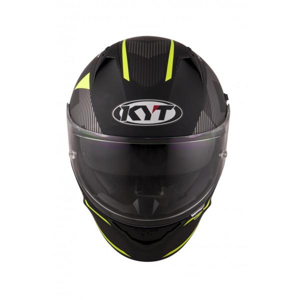 Casco integrale Kyt NF-R Logos giallo opaco