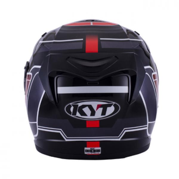 Casco integrale KYT Venom Square nero rosso