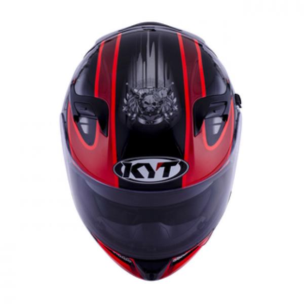 Casco integrale KYT Venom Strike nero rosso fluo