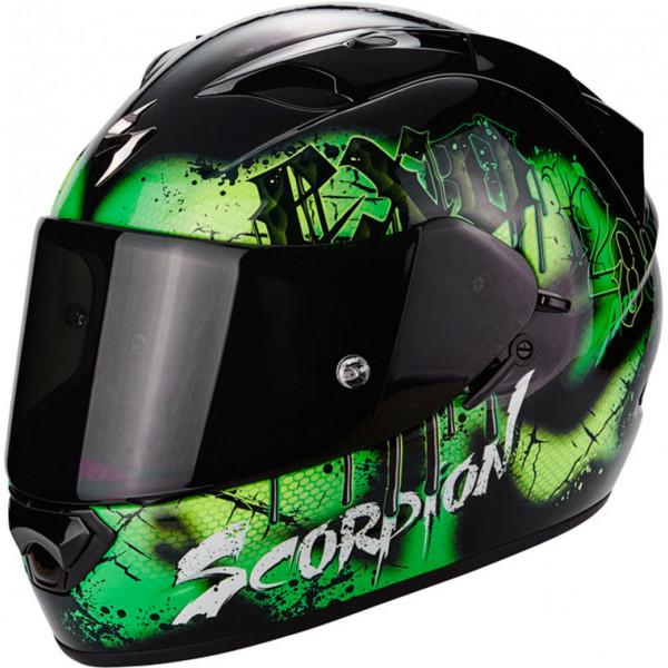 Casco integrale Scorpion Exo 1200 Air Tenebris Nero Green