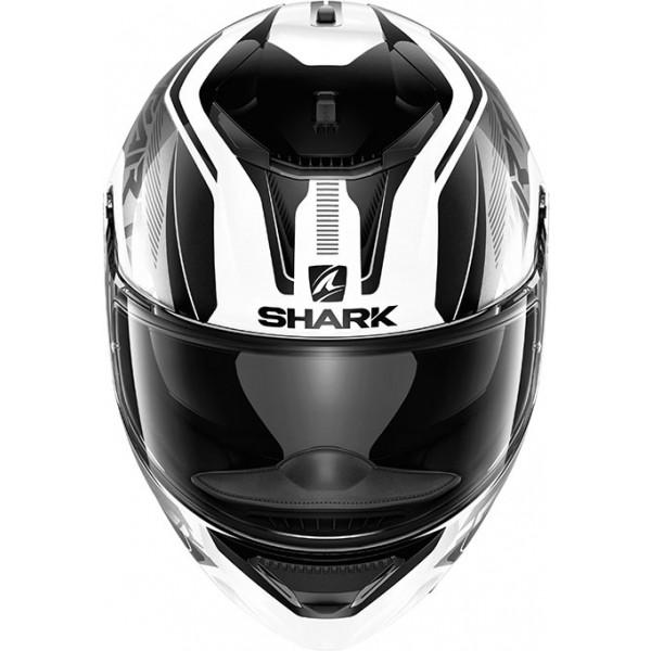 Casco integrale Shark Spartan 1.2 Karken in fibra Bianco Nero