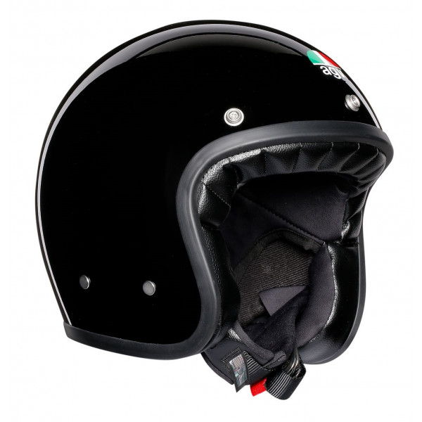 Casco jet AGV Legends X70 E2205 SOLID in fibra Nero
