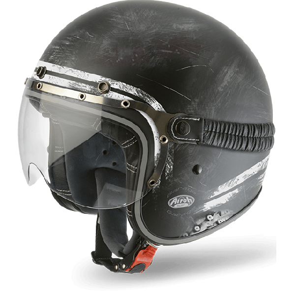Casco jet Airoh Garage Raw opaco visiera inclusa