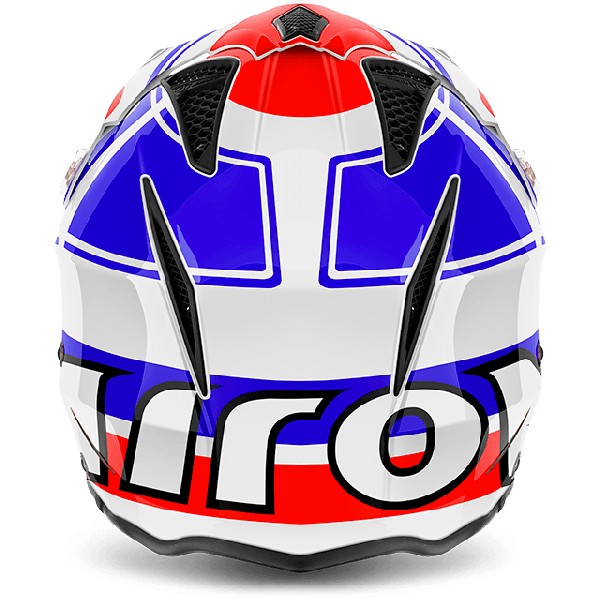 Casco jet Airoh Trr S Wintage blu lucido