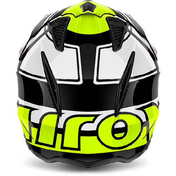 Casco jet Airoh Trr S Wintage giallo lucido