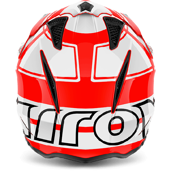 Casco jet Airoh Trr S Wintage rosso lucido