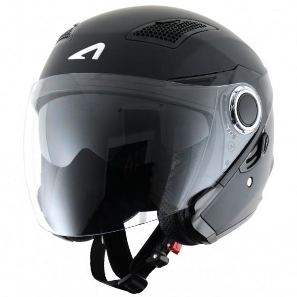 Casco jet Astone Helmets FJ 10 nero opaco