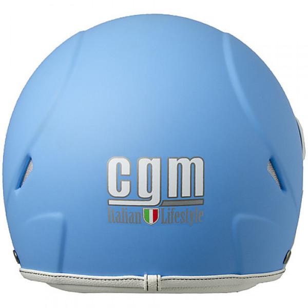 Casco jet bambino CGM Havana Smile con adesivi Azzurro Opaco