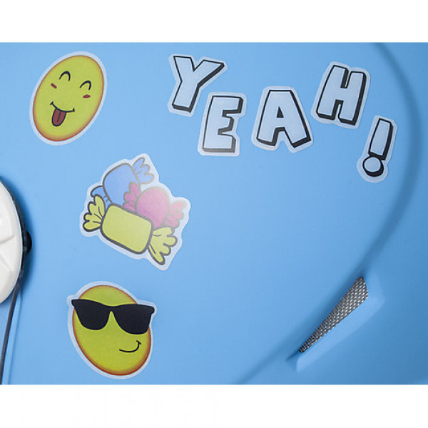 Casco jet bambino CGM Varadero Smile con adesivi Azzurro Opaco