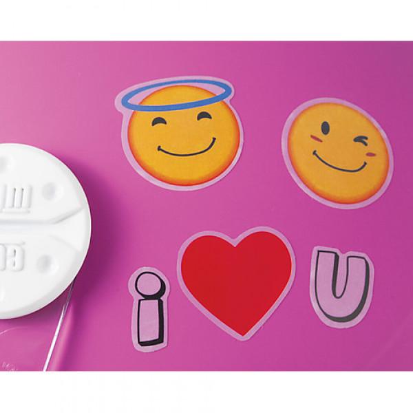 Casco jet bambino CGM Varadero Smile con adesivi Fucsia Opaco
