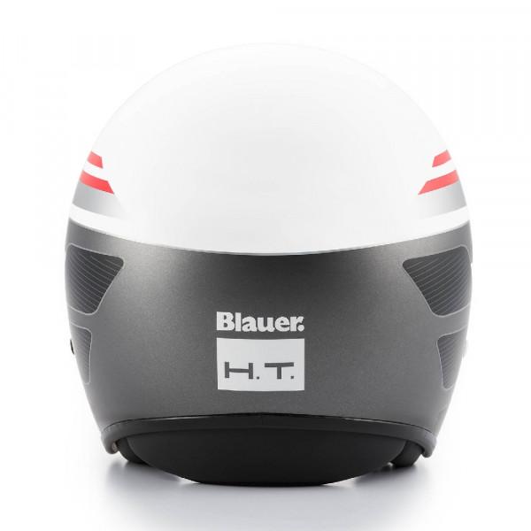 Casco jet Blauer Pilot 1.1 in fibra grafica B bianco lucido