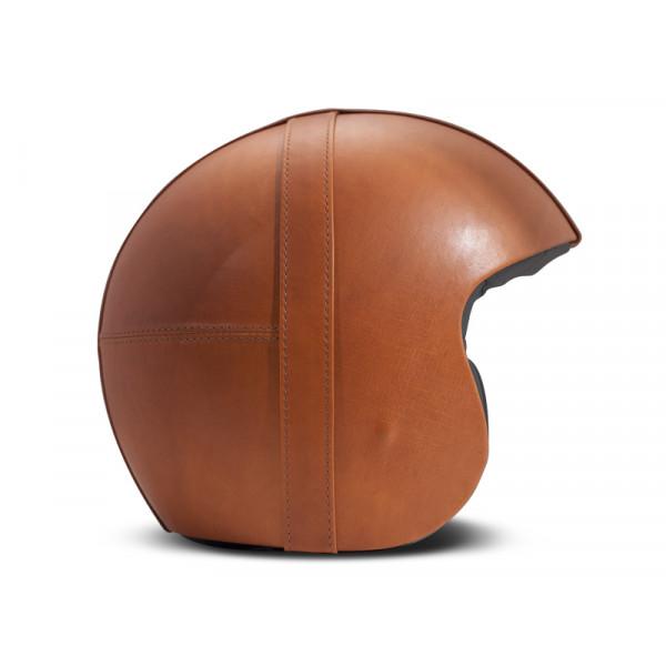 Casco Jet DMD Leather Vintage Bowl in carbonio Arancio Scuro