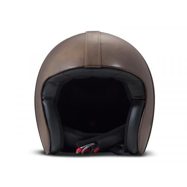 Casco Jet DMD Leather Vintage Bowl Smoked in carbonio Grigio