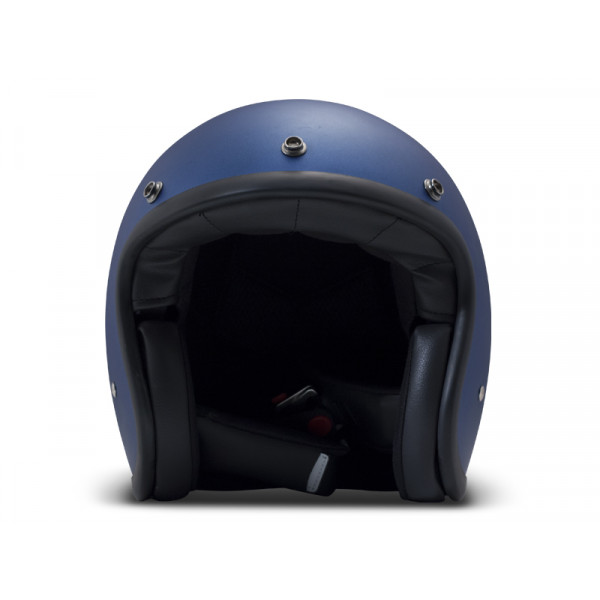 Casco Jet DMD Vintage in fibra Metallic Blu