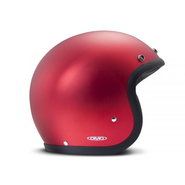 Casco Jet DMD Vintage in fibra Metallic Rosso