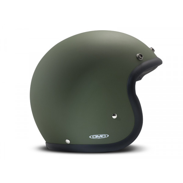 Casco Jet DMD Vintage in fibra Verde Opaco
