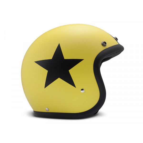 Casco Jet DMD Vintage Star in fibra Giallo
