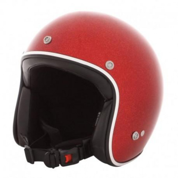 Casco jet HOLY FREEDOM RED METALFLAKE rosso