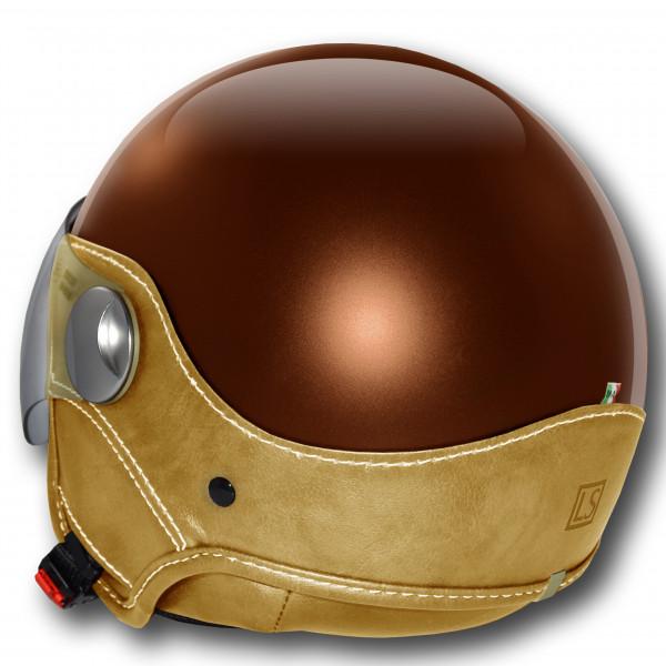 Casco jet LS Trendy Vision marrone scuro marrone chiaro