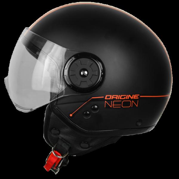 Casco Jet Origine Neon Street nero arancio