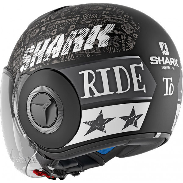 Casco jet Shark NANO TRIBUTE RM Mat Nero Opaco Bianco Antracite