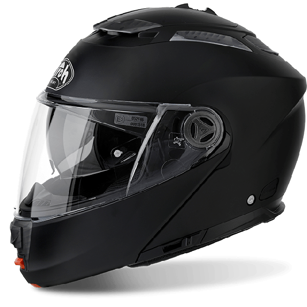 Casco modulare Airoh Phantom S Pinlock incluso Color nero opaco