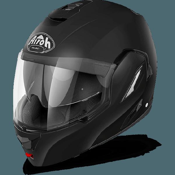 Casco modulare Airoh Rev Color nero opaco mentoniera staccabile