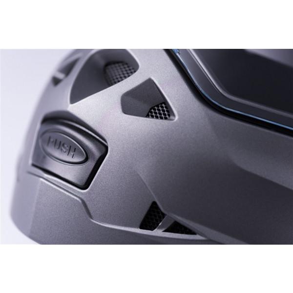 Casco modulare Blauer SKY II Nero Titanio Bianco Opaco