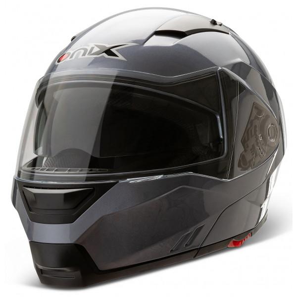 Casco modulare Onix G-348 Grigio Lucido