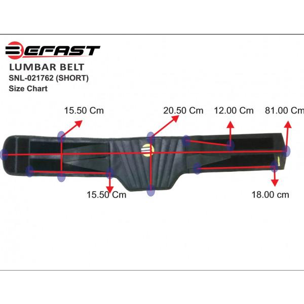 Fascia lombare Befast Lumbar Belt Short Nero