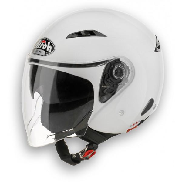 Casco moto Urban Jet Airoh City One Color bianco lucido