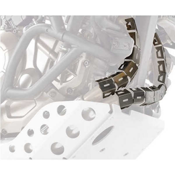 Coppia di paracollettori Givi S281 universali per moto con collettori diametro tra 42mm e 52mm
