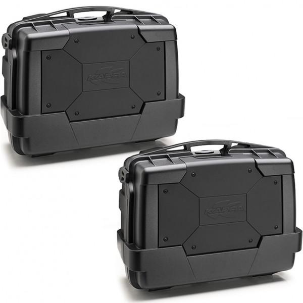 Coppia di valige laterali Kappa KGR33 Garda Black Line Nere con cover nera