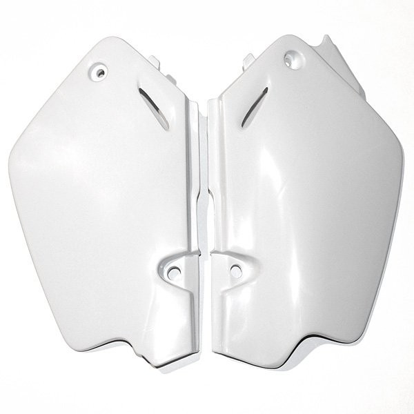 Coppia fiancatine laterali Ufo per Honda Bianco
