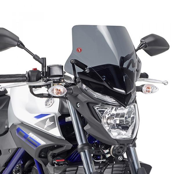 Cupolino fumè Givi specifico per Yamaha MT03 2016