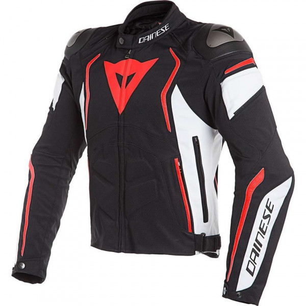 Giacca moto touring Dainese DYNO Nero Bianco Rosso Fluo