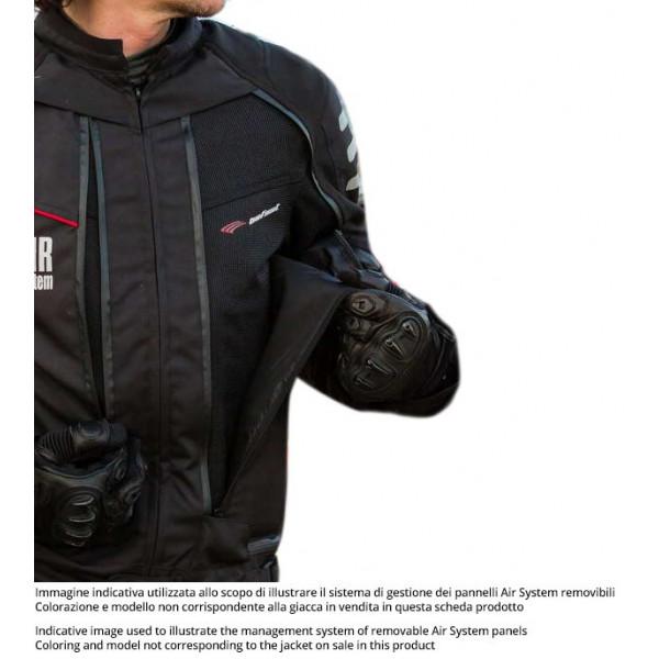 Giacca moto touring Befast TRANSFORMER CE certificata 3 strati Nero Grigio