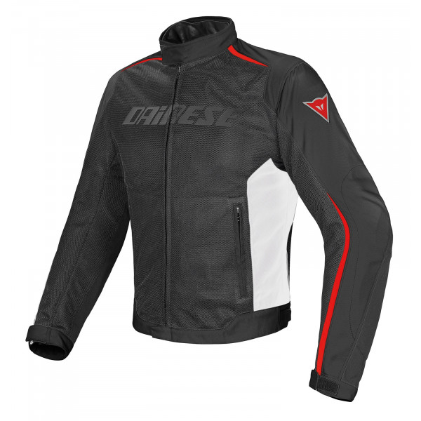 Giacca moto Dainese Hydra Flux D-Dry nero bianco rosso
