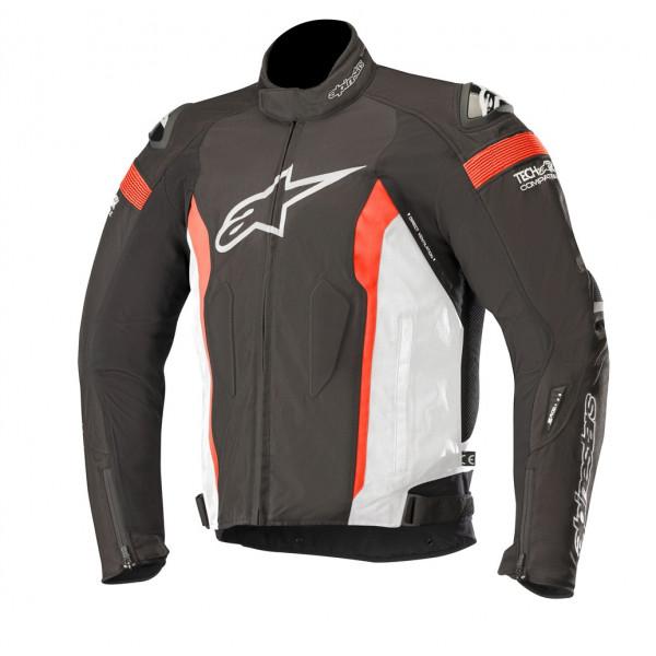 Giacca moto Alpinestars T-MISSILE Drystar Tech-Air compatibile nero bianco rosso fluo