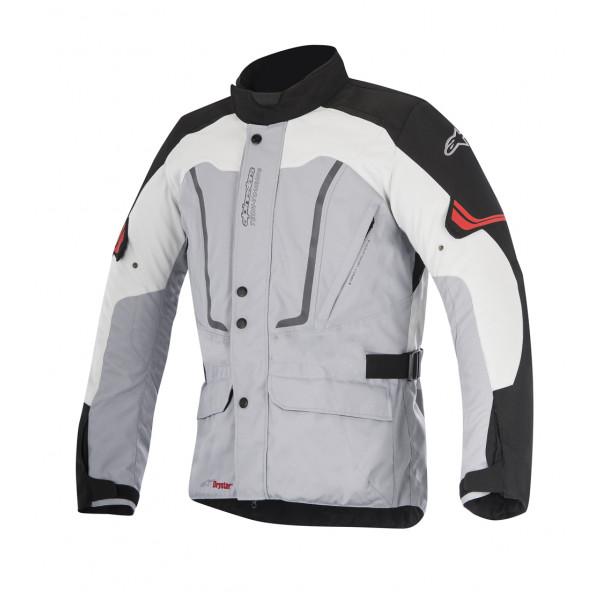 Giacca moto Alpinestars Vence Drystar grigio nero