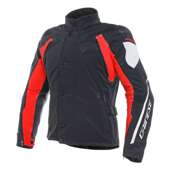 Giacca moto Dainese RAIN MASTER D-DRY Nero Glacier Grigio Rosso
