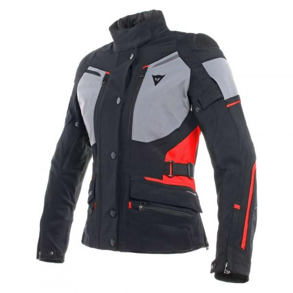 Giacca moto donna Dainese CARVE MASTER 2 GORE-TEX Nero Frost Grigio Rosso