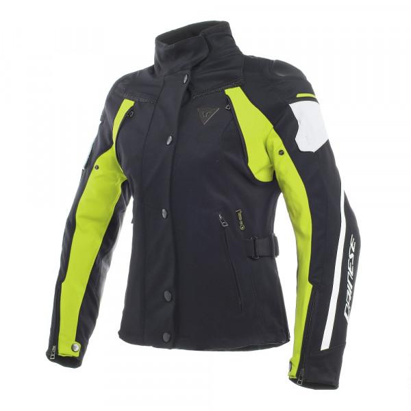 Giacca moto donna Dainese RAIN MASTER D-DRY Nero Glacier Grigio Giallo Fluo