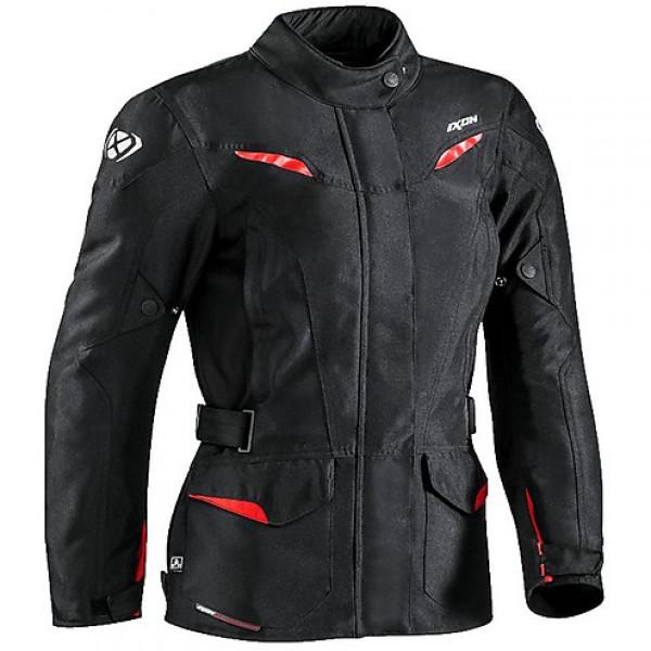 Giacca moto donna Ixon SUMMIT 2 LADY nero rosso